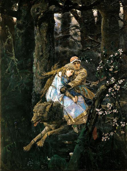 Vasnetsov-Viktor-ivan-tsarevich-na-serom-volke