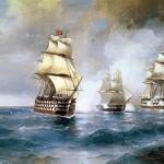 Ajvazovskij-Ivan-brig-merkurij-atakovannyj-dvumya-tureckimi-korablyami