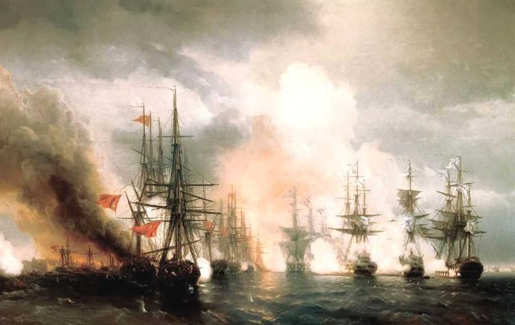 Ajvazovskij-Ivan-russko-tureckij-morskoj-boj-pri-sinope