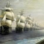 Ajvazovskij-Ivan-smotr-chernomorskogo-flota-v-1849-godu