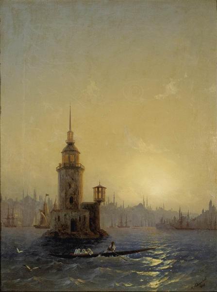Ajvazovskij-Ivan-vid-leandrovoj-bashni-v-konstantinopole