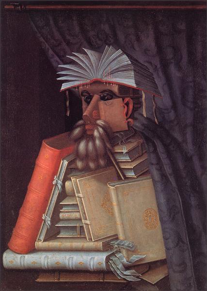 Archimboldo-Dzhuzeppe-bibliotekar