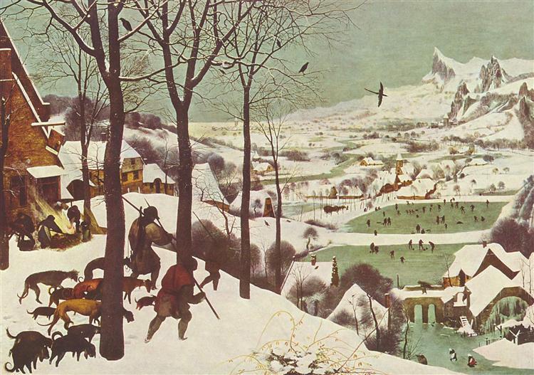 Breigel-Piter-starshij-ohotniki-na-snegu