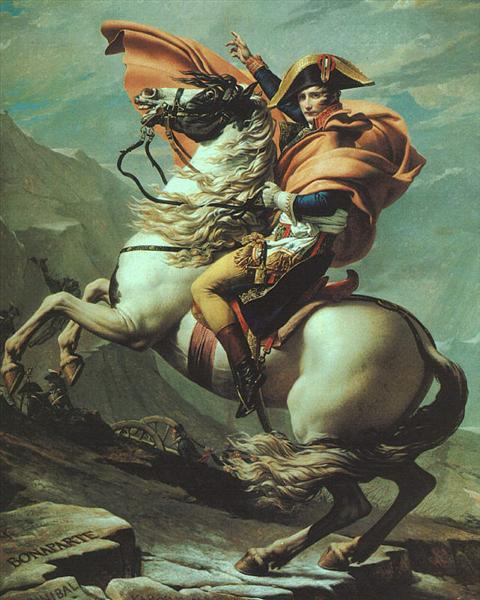 David-Zhak-Lui-napoleon-peresekaet-alpy-v-sen-bernar-pass