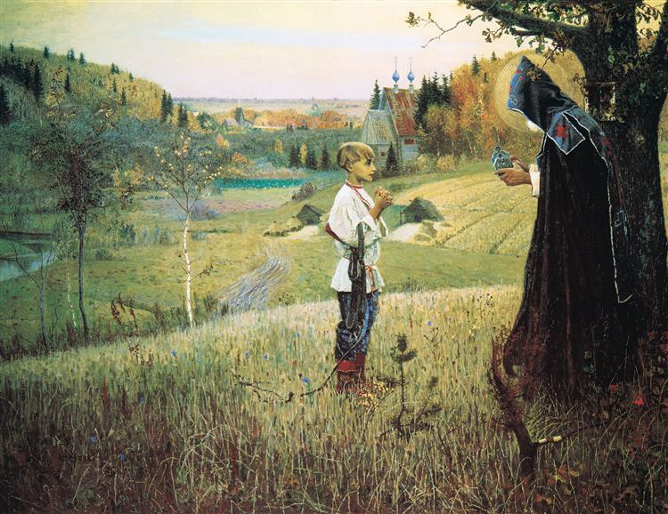 Nesterov-Mihail-videnie-otroku-varfolomeyu