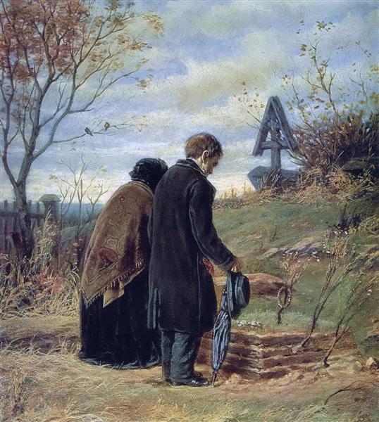 Perov-Vasilij-stariki-roditeli-na-mogile-syna