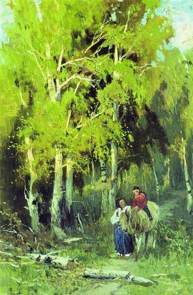 Vasilyev-Fedor-doroga-v-berezovom-lesu