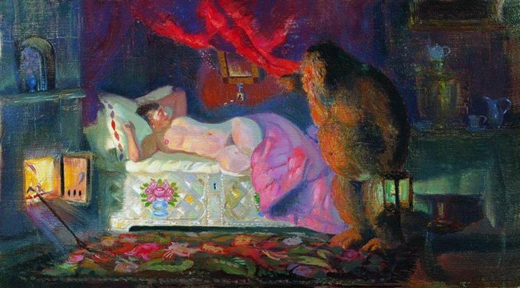 Kustodiev-Boris-kupchiha-i-domovij