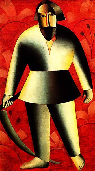 Malevich-Kazimir-krestyanin-kosar