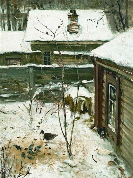 Savrasov-Aleksej-dvorik-zima