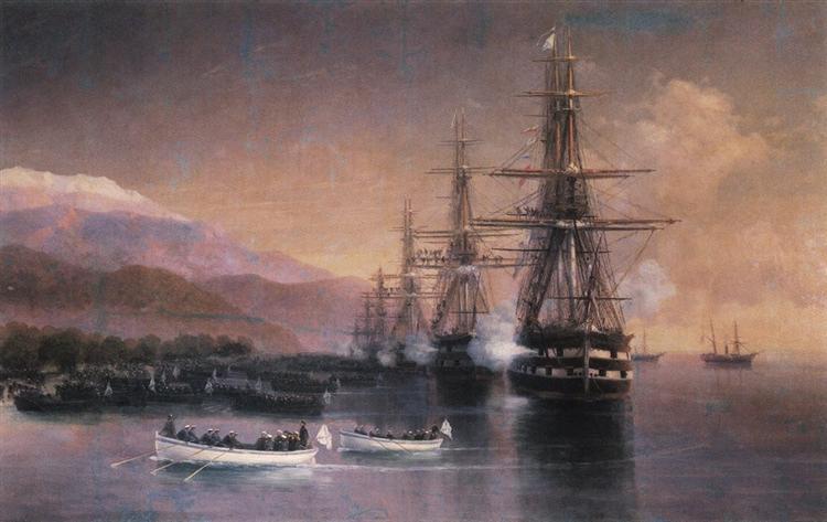 Ajvazovskij-Ivan-rybaki-desant-v-subashi