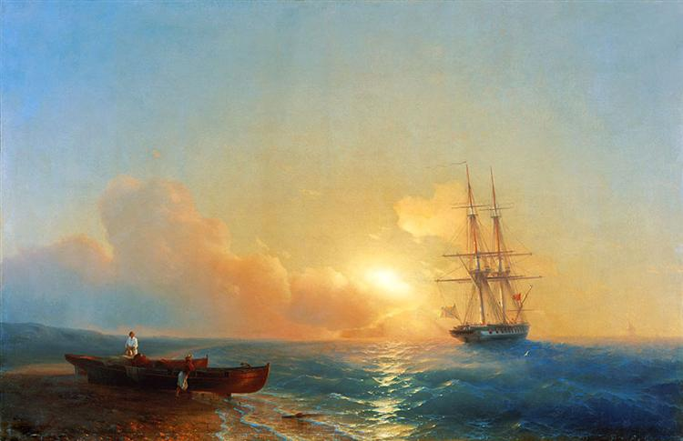 Ajvazovskij-Ivan-rybaki-na-beregu-morya