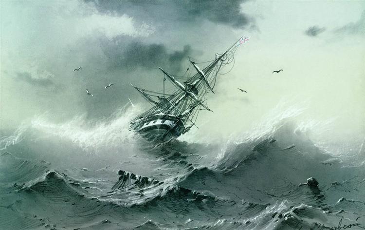 Ajvazovskij-Ivan-tonusshij-korabl