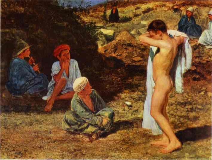 Ivanov-Aleksandr-sem-malchikov-v-cvetnyh-odezhdah