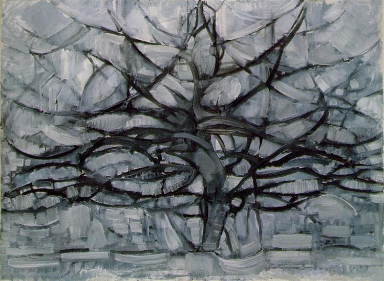 Mondrian-Pit-seroe-derevo