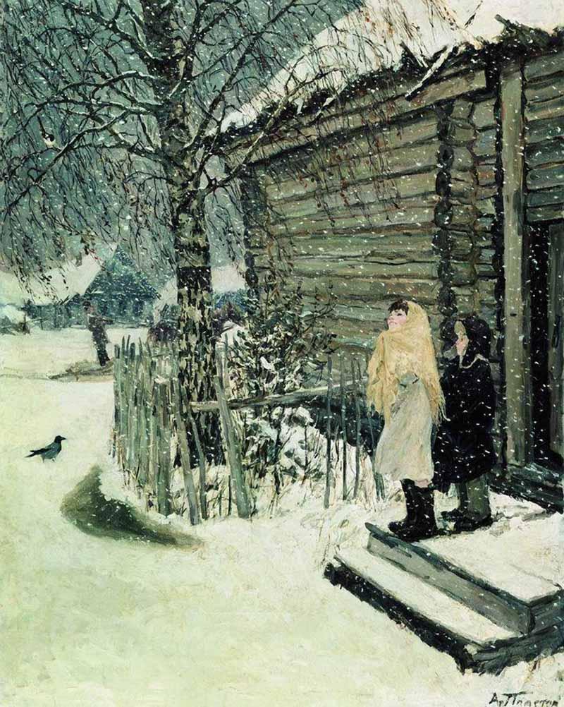Plastov-Arkadij-pervyj-sneg