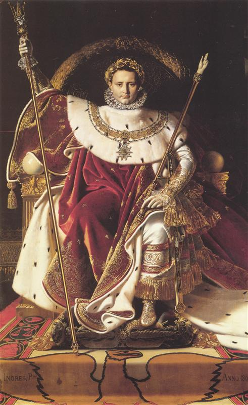 Engr-Dominik-portret-napoleona-na-imperatorskom-trone