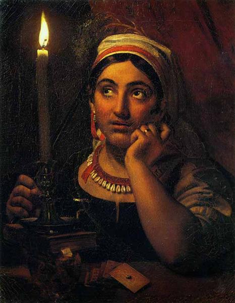Kiprenskij-Orest-gadalka-so-svechoj