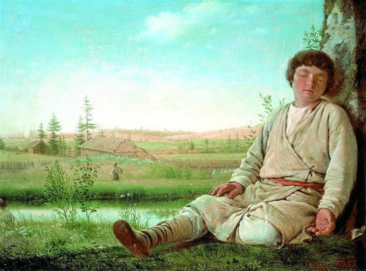 Venecianov-Aleksey-spyasshij-pastushok