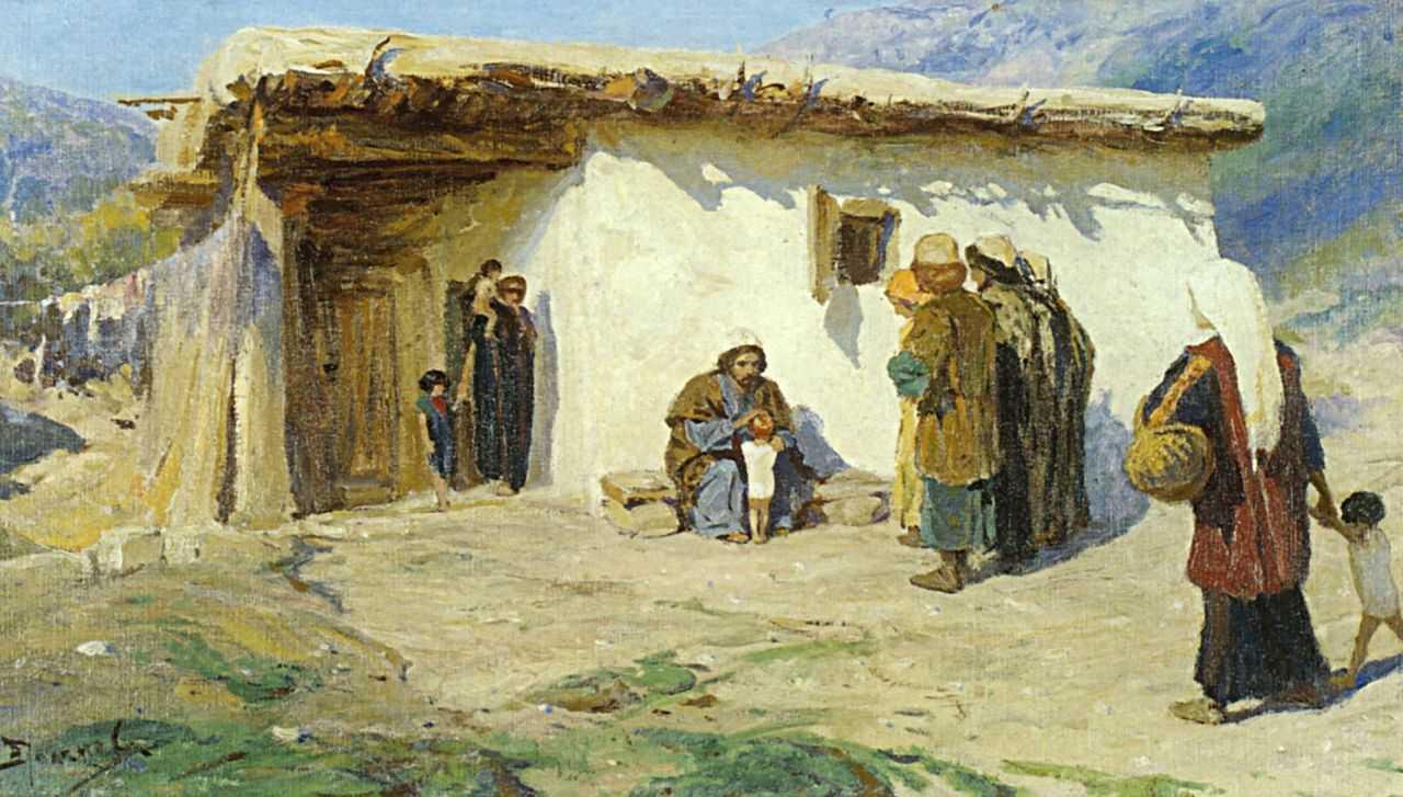 Polenov-Vasilij-priveli-detej