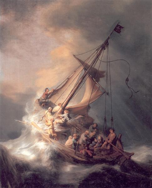 Rembrandt-hristos-vo-vremya-shtorma