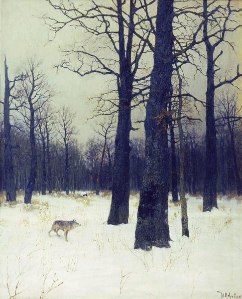 levitan-zimoj-v-lesu